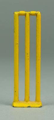 Figurine, set of cricket stumps
