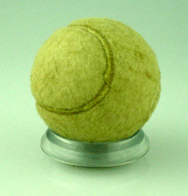 Used Slazenger tennis ball, belonged to the Rodgerson/Wood family