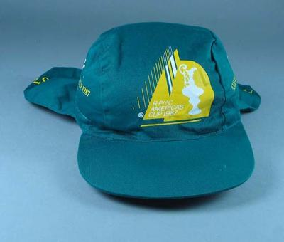Hat with America's Cup insignia, 1987