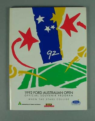Programme, 1992 Australian Open; Documents and books; 2004.3912.8