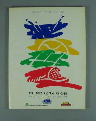 Programme, 1991 Australian Open; Documents and books; 2004.3912.7