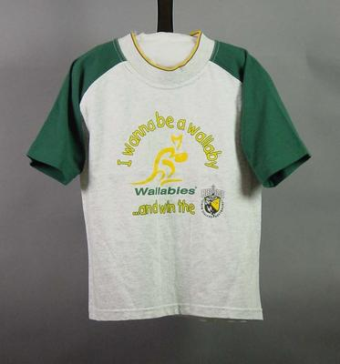 Rugby union, child's Wallaby t-shirt