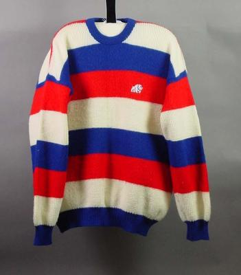 Jumper, Footscray FC logo; Clothing or accessories; 2004.3912.6