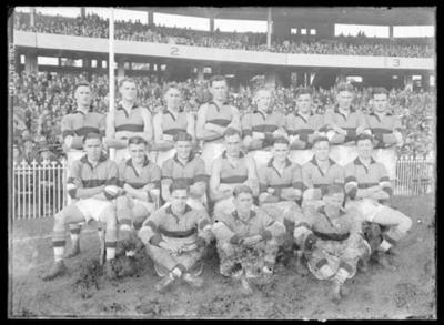 Glass negative, image of Footscray Football Club team; Photography; 1986.1170.1062