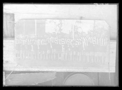 Glass negative, image of Collingwood Football Club team - 1932; Photography; 1986.1170.1121