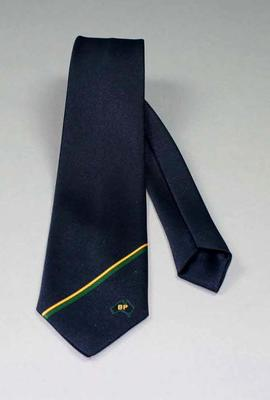 Tie -  worn by Neale Fraser with BP (British Petroleum) logo, maker Hollygreen