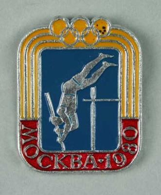 Badge, 1980 Olympic Games - Track & Field (Pole Vault)