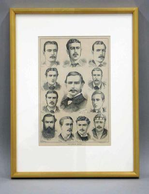 "Print, ""The English Eleven"" - 'Australasian Sketcher', 21 December 1878"