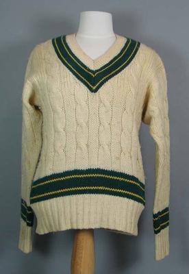 Australian cricket jumper, worn by Ray Lindwall - Fifth Test, 1959