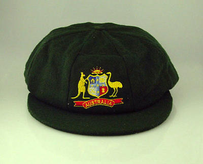 Baggy green cap worn by Rodney Marsh, 1982-83 Ashes Test series; Clothing or accessories; M10788