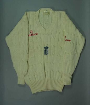 England cricket team jumper, Australian tour 1998/99; Clothing or accessories; M10675