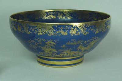 Spode  bowl presented to Sir Pelham Warner by North Staffordshire C.L., 1949