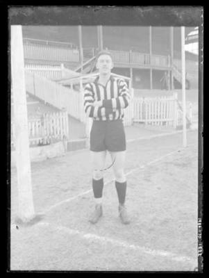 Glass negative, image of football player; Photography; 1986.1170.1222