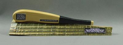 Cricket bat replica presented to John Lill, VCA 1996/97 Ryder Medal; Civic mementoes; M10581