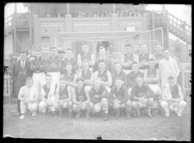 Glass negative, image of Yarraville Football Club - 1931; Photography; 1986.1170.1257