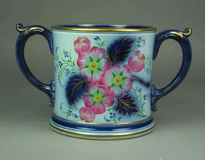 Bovey Tracey pottery mug with two side-arms