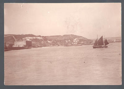 Sail boat entering harbour - Frank Laver Photograph Album collection