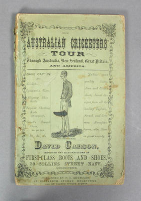 "Book, ""The Australian Cricketers Tour Through Australia, New Zealand, Great Britain and America"" c1878"
