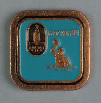 Badge, 1980 Olympic Games - Water Polo