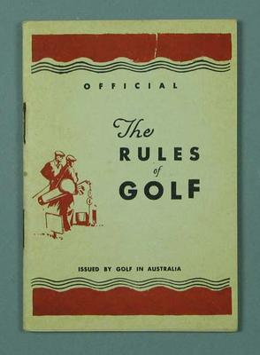 "Booklet & envelope, ""The Rules of Golf"" c1940s"
