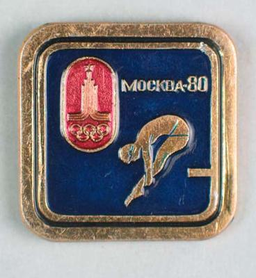 Badge, 1980 Olympic Games - Diving