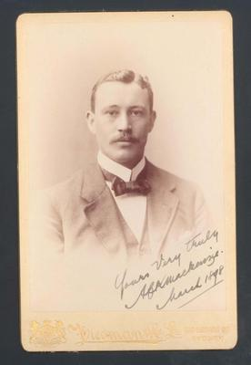 Photograph from Frank Laver's photograph album, image of Alick Mackenzie