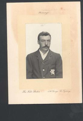 Photograph from Frank Laver's photograph album, image of unknown cricketer