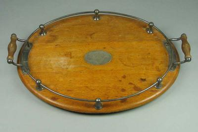Tray, presented to Mr & Mrs C Hiddlestone - Easter 1926