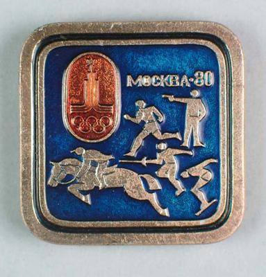 Badge, 1980 Olympic Games - Pentathlon