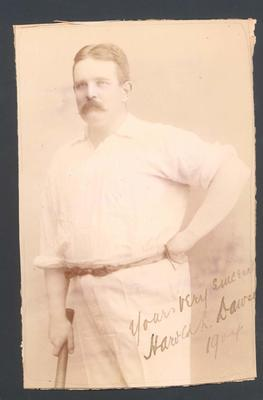 Photograph from Frank Laver's photograph album, image of Harold Dawson - 1904