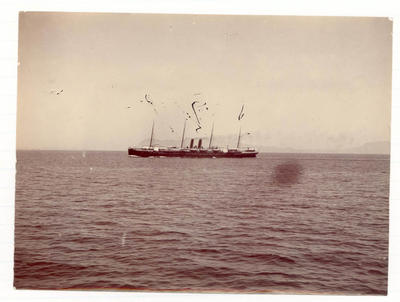 Passenger ship at sea -  Frank Laver Photograph Album collection