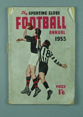 "Magazine, ""The Sporting Globe - Football Annual 1953"""