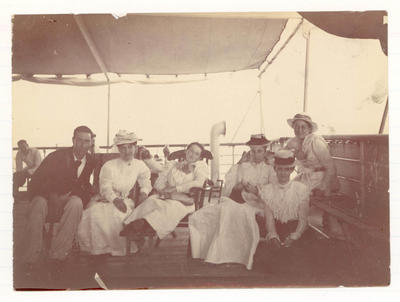 Frank Laver with others on board  'Ormuz' -  Frank Laver Photograph Album collection