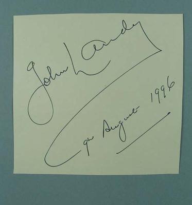 Autograph, John Landy