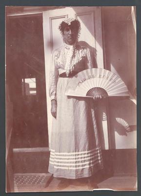 Frank Laver  in fancy dress on board  'Ormuz' -  Frank Laver Photograph Album collection