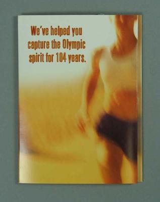 Kodak sleeve, Sydney 2000 Olympic Games Opening Ceremony audience kit