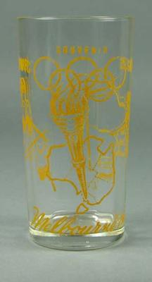 Drinking glass, 1956 Melbourne Olympic Games