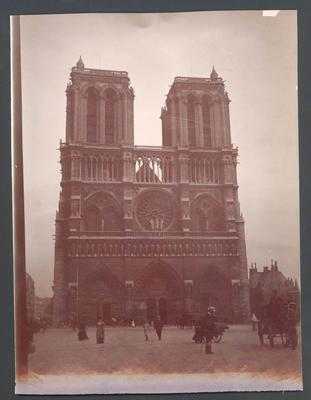 Notre Dame, Paris  - Frank Laver Photographic Album collection