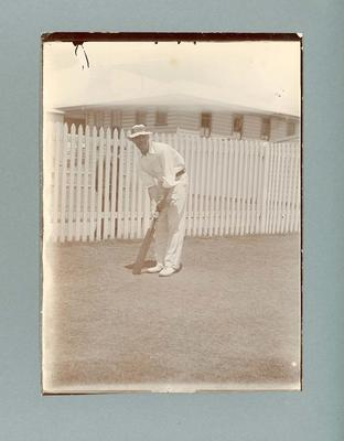 English Cricketer A. Fielder  - Frank Laver Photographic Album collection; Photography; M3094.94