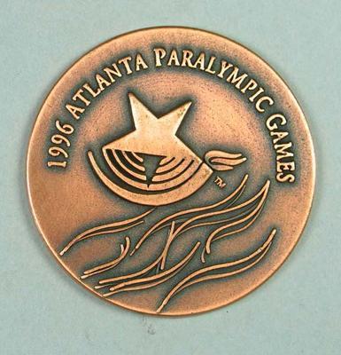 Commemorative medal, 1996 Atlanta Paralympic Games
