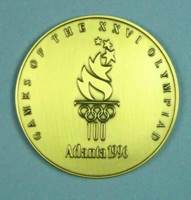 Commemorative medal, 1996 Atlanta Olympic Games