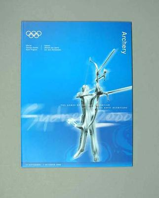 Programme, Sydney 2000 Olympic Games - Archery