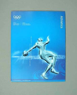 Programme, Sydney 2000 Olympic Games - Athletics