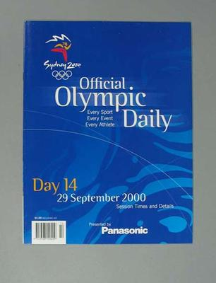 Programme, Sydney 2000 Olympic Games - Day 14