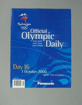 Programme, Sydney 2000 Olympic Games - Day 16