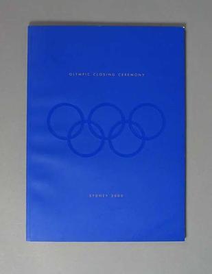 Programme, 2000 Sydney Olympic Games Closing Ceremony