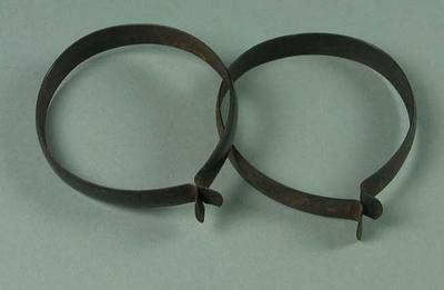 Two cycling clips, c1950s