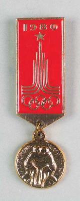 Badge, 1980 Olympic Games - Wrestling