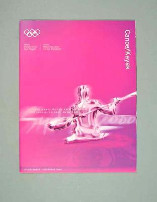 Programme, Sydney 2000 Olympic Games - Canoe/Kayak
