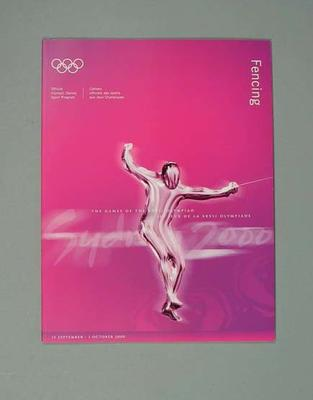 Programme, Sydney 2000 Olympic Games - Fencing